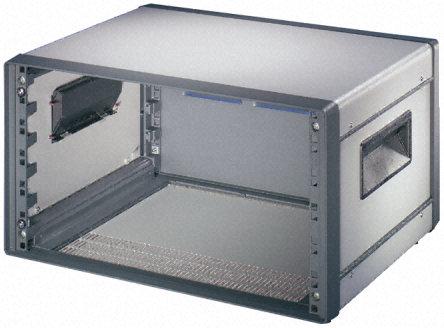 Schroff - 10225693 - Schroff Comptec 系列 灰色/白色 铝 9U 通风 机架式机箱 10225693, 420 x 520 x 600mm