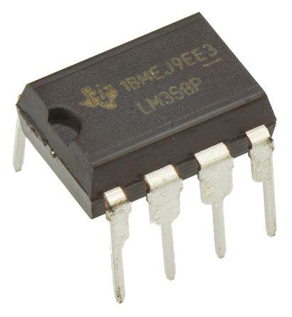 Texas Instruments - LM358P - Texas Instruments LM358P 双 运算放大器, 700kHz增益带宽积, 5 → 28 V单电源电压, 8引脚 PDIP封装