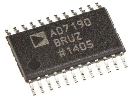 Analog Devices - AD7190BRUZ - Analog Devices AD7190BRUZ 24 位 ADC, 差分输入, SPI接口, 24引脚 TSSOP封装