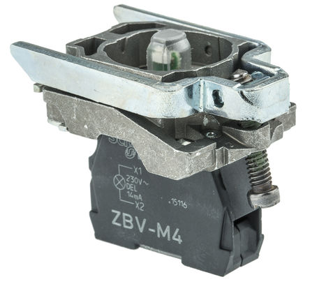 Schneider Electric - ZB4BVM4 - Schneider Electric XB4 系列 照明块 ZB4BVM4, 230 → 240 V, 红色 LED, 螺钉接端