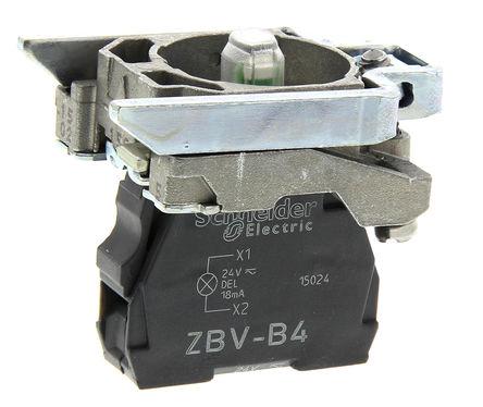 Schneider Electric - ZB4BVB4 - Schneider Electric XB4 系列 照明块 ZB4BVB4, 24 V, 红色 LED, 螺钉接端