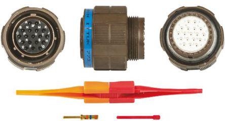 ITT - KJB6T15W18SN - ITT KJB 系列 18路 ��|安�b �B接器 螺�y 插�^ KJB6T15W18SN, 母�|芯, 外�こ叽�15, MIL-DTL-38999