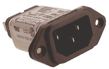 TE Connectivity - 15EEJ1 - TE Connectivity 15EEJ1 电源线过滤, 15 A, 250 V 交流, 54.61 x 51.76 x 24.38 mm