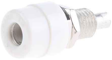 Hirschmann Test & Measurement - 930176107 - Hirschmann 930176107 白色 4mm 插座, 30 V ac, 60 V dc 32A, 镀锡触点