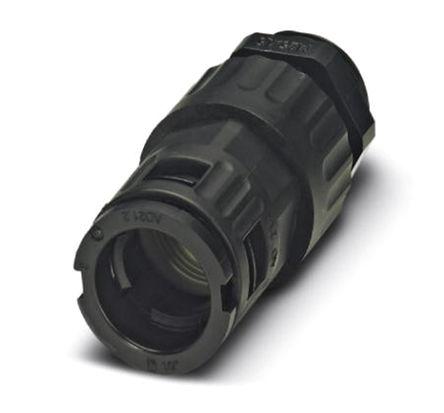 Phoenix Contact - 3240938 - Phoenix Contact IP68/IP69K 黑色 聚酰胺 电缆固定头 3240938 至 10mm电缆直径, -40°C至+115°C, M12螺纹