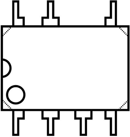 STMicroelectronics - VIPER28LN - STMicroelectronics VIPER28LN 交直流转换器, 8.5 → 23.5 V输入, 800 V输出, 7引脚 PDIP封装