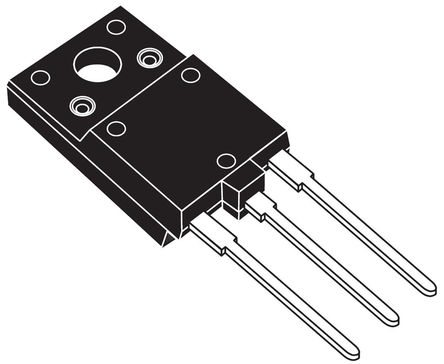 STMicroelectronics - HD1750FX - STMicroelectronics HD1750FX , NPN 晶体管, 24 A, Vce=800 V, HFE:6.5 @ 12 A @ 5 V, 3引脚 ISOWATT218FX封装