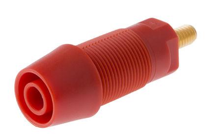 Schutzinger - SAB 6922 AU / RT - Schutzinger SAB 6922 AU / RT 红色 4mm 插座, 1kV 32A, 镀金触点