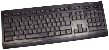 Cherry - JD-0400FR-2 - Cherry 黑色 USB �o� AZERTY 工�I用 �I�P�c鼠�颂准� JD-0400FR-2, 105 + 4 (Hot Keys)�I�P, 光�W鼠��