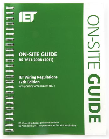 IET - 978-1-84919-287-3 - 《On-Site Guide BS7671:2008 Wiring Regulations》 作者: IET Publications (edited by Mark Coles)