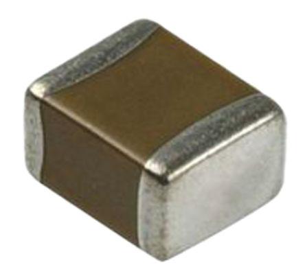 Murata - GRM155R71H104KE14D - Murata GRM 系列 100nF 50 V 直流 X7R电介质 SMD 多层陶瓷电容器 (MLCC) GRM155R71H104KE14D, ±10%容差, 1005封装