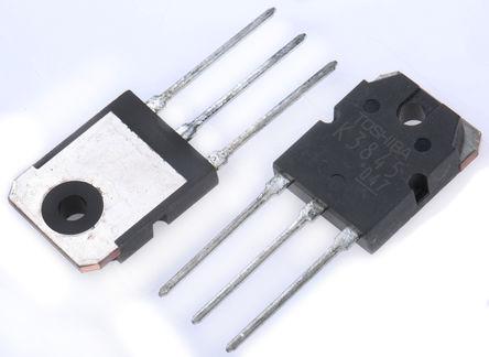 Toshiba - 2SK3845(Q) - Toshiba 2SK 系列 Si N沟道 MOSFET 2SK3845(Q), 70 A, Vds=60 V, 3引脚 TO-3PN封装