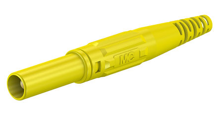 Multi Contact - 66.9196-24 - Multi Contact 66.9196-24 黄色 香蕉插头, 1kV 32A, 镀镍触点