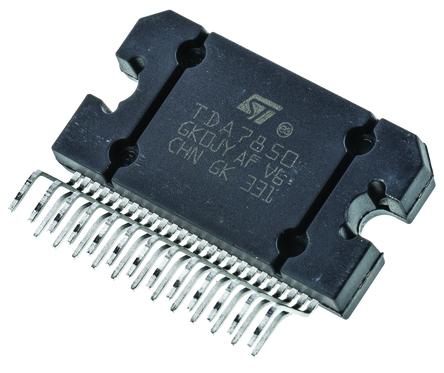 STMicroelectronics - TDA7850 - STMicroelectronics TDA7850 AB 类 立体声 扬声器放大器, 30 W @ 4 Ω最大功率, 25引脚 FLEXIWATT封装