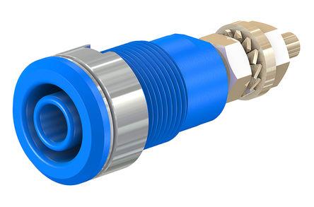 HCK - 23.3020-23 - HCK 23.3020-23 蓝色 4mm 插座, 1kV 32A, 镀金触点