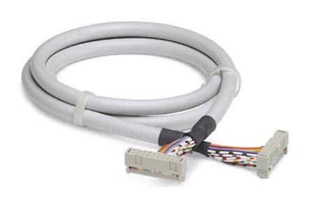 Phoenix Contact - 2304814 - Phoenix Contact 2304814 3m IDC 20 针 - IDC 14 针 母 - 母 电缆, 使用于Emerson DeltaV