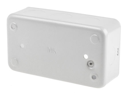 MK - 892 ALM - MK 包铠装 系列 IP20 银色 铝 4插孔 后背箱 892 ALM, 134 x 42 x 74mm, 合符BS 标准