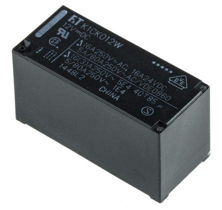 Fujitsu - FTR-K1CK012W - Fujitsu FTR-K1CK012W 单刀双掷 PCB 安装 非闭锁继电器, 12V