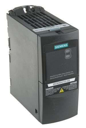 Siemens - 6SE64202AB112AA1 - Siemens MICROMASTER 420 系列 IP20 0.12 kW 变频器驱动 6SE64202AB112AA1, 0 → 550 Hz, 1.8 A, 200 → 240 V 交流