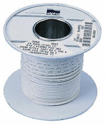 Alpha Wire - 3252 GR005 - Alpha Wire 30m�L �G色 20 AWG UL1061 �涡� �炔窟B��� 3252 GR005, 0.56 mm2 截面�e, 7/0.32 mm �芯�g距, 300 V
