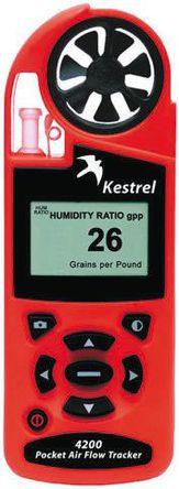 Kestrel - 0842 - Kestrel Kestrel 4200 风速计, 最大风速135mph, 测量空气流量、风速、海拔高度、密度、露点、热指数、湿度比、压力、相对湿度、温度、湿球温度、风寒指数