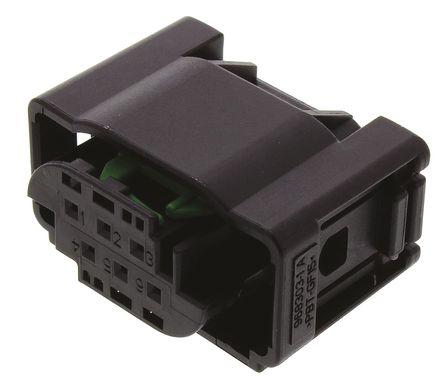 TE Connectivity - 1-967616-1 - TE Connectivity Micro Quadlock System 系列 2行 6路 电缆安装 黑色 母 连接器 1-967616-1, 压接端接