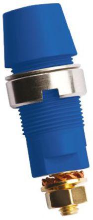 Schutzinger - SAB 6922 AU / BL - Schutzinger SAB 6922 AU / BL 蓝色 4mm 插座, 1kV 32A, 镀金触点
