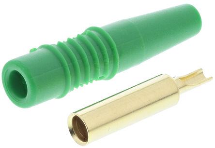 Multi Contact - 22.1012 +22.2170-25 - Multi Contact 22.1012 +22.2170-25 绿色 4mm 插座, 30 V ac, 60 V dc 19A, 镀金触点