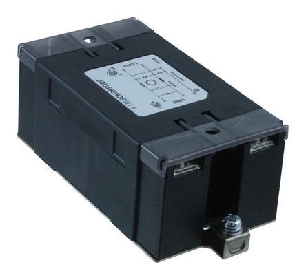 Schaffner - FN2450B-16-61 - Schaffner FN2450 系列 10A 250 V 交流, 400Hz 面板安装 RFI 滤波器 FN2450B-16-61, 带螺丝接端