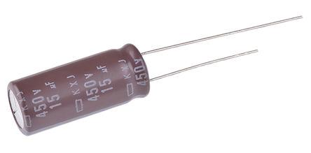 Nippon Chemi-Con - EKXJ451ELL150MJ25S - Nippon Chemi-Con KXJ 系列 450 V 直流 15μF �X�解�容器 EKXJ451ELL150MJ25S, ±20%容差, 最高+105°C, J25封�b