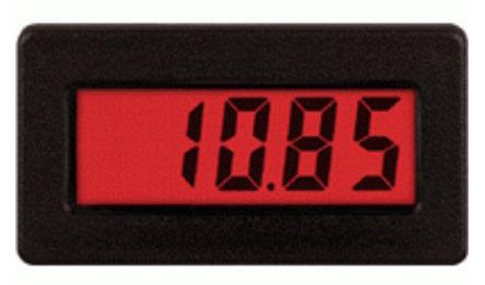 Red Lion - CUB4CL40 - Red Lion CUB4 系列 3-1/2位 LCD 数字面板式电流表 CUB4CL40, 直流电流, 68 x 33 mm, 0°C 至 +60°C
