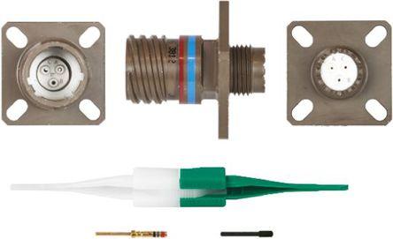 ITT - KJB0T9W98PN - ITT KJB 系列 3路 面板安�b �B接器 螺�y 插座 KJB0T9W98PN, 公�|芯, 外�こ叽�9, MIL-DTL-38999