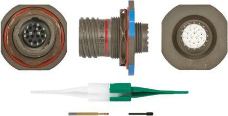 ITT - KJB7T11W35SN - ITT KJB 系列 13路 面板安�b �B接器 螺�y 插座 KJB7T11W35SN, 母�|芯, 外�こ叽�11, MIL-DTL-38999