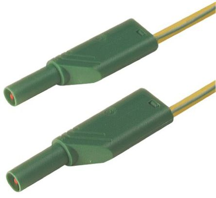 Hirschmann Test & Measurement - 934089188 - Hirschmann Test & Measurement 934089188 绿色,黄色 测试引线, 32A额定电流, 1000V ac/dc, 公至公, 2m长
