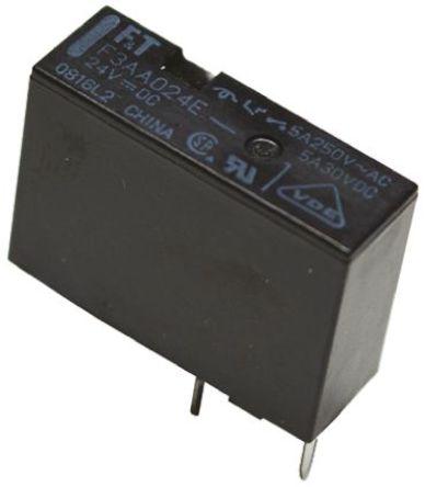 Fujitsu - FTR-F3AA024E-HA - Fujitsu FTR-F3AA024E-HA 单刀单掷 PCB 安装 非闭锁继电器, 24V