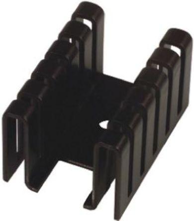 AAVID THERMALLOY - 551002B00000G - AAVID THERMALLOY 黑色 散热器 551002B00000G, 12.4°C/W, 36.83 x 2.55 x 19.99mm