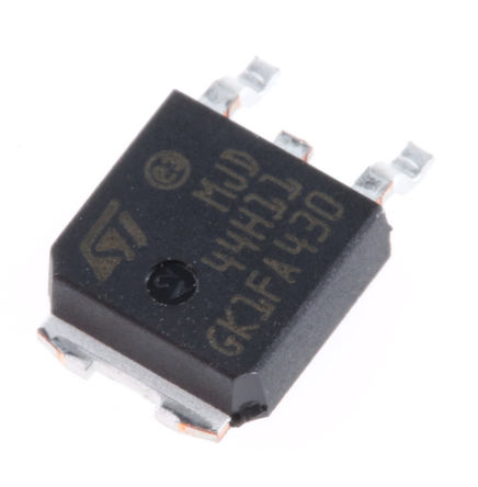 STMicroelectronics - MJD44H11T4 - STMicroelectronics MJD44H11T4 , NPN 晶体管, 8 A, Vce=80 V, HFE:40, 3引脚 DPAK封装