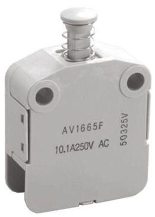 Panasonic - AV15653F - 单刀单掷-常闭 安全互锁开关, 10.1 A @ 250 V 交流