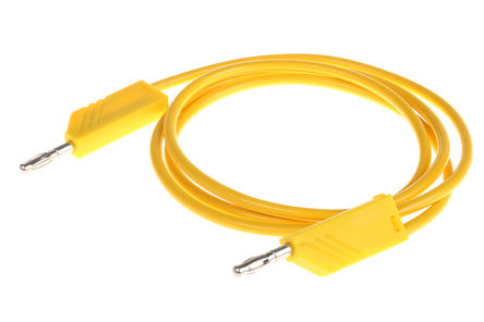 Hirschmann Test & Measurement - 934063103 - Hirschmann Test & Measurement 934063103 黄色 测试引线, 32A额定电流, 60V dc, 公至公, 1m长