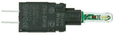 Schneider Electric - ZB6EM3B - Schneider Electric XB6 系列 照明块 ZB6EM3B, 230/240 V 交流/直流, 绿色 LED, Faston 连接器接端
