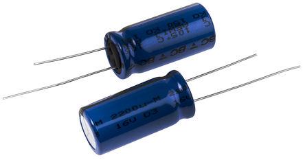 Vishay - MAL215055222E3 - Vishay 150 系列 16 V 直流 2200μF 通孔 铝电解电容器 MAL215055222E3, ±20%容差, 最高+105°C