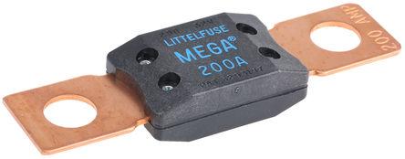 Littelfuse - 0298200.ZXEH - Littlefuse 200A 蓝色 栓入式 车用插片式熔断器 0298200.ZXEH, 32V dc, 68.58mm x 19.05mm x 10.67mm