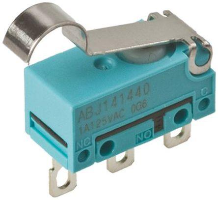 Panasonic - ABJ141460 - Panasonic ABJ141460 单刀双掷 模拟滚轮杠杆 微动开关, 2 A @ 30 V 直流