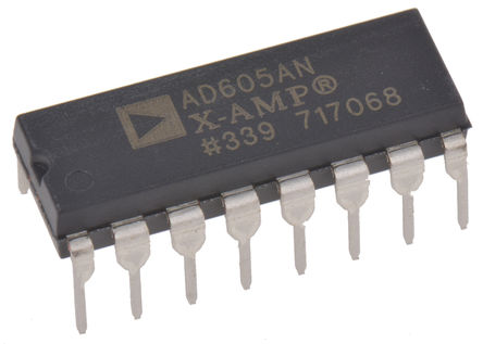 Analog Devices - AD605ANZ - Analog Devices AD605ANZ 双 控制电压放大器, 单端输出, 4.5 → 5.5 V, 16针 PDIP封装