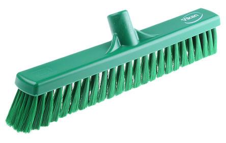 Vikan - 31792 - Vikan 31792 绿色 软质 PET刷毛 扫帚, 60mm长刷毛, 410 x 50mm 一般用途