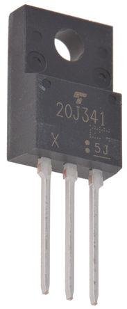 Toshiba - GT20J341 - Toshiba GT20J341 N沟道 IGBT, 20 A, Vce=600 V, 100kHz, 3引脚 TO-220SIS封装