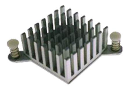 ABL Components - BGA PP 010 - ABL Components 本色 散热器 BGA PP 010, 11K/W, 胶粘箔片安装, 40.8 x 40.8 x 15mm