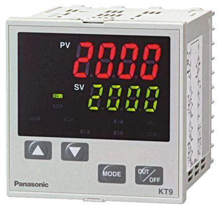 Panasonic - AKT9112100J - Panasonic KT9 系列 PID 温度控制器 AKT9112100J, 96 x 96mm, 100 → 240 V 交流, 1输出