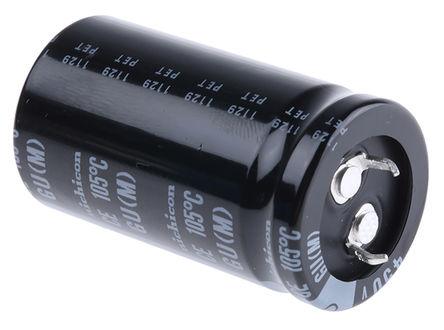 Nichicon - LGU2W221MELA - Nichicon GU 系列 450 V 直流 220μF 通孔 铝电解电容器 LGU2W221MELA, ±20%容差, 最高+105°C