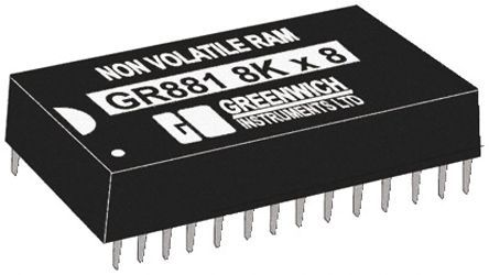 STMicroelectronics - M48T18-150PC1 - STMicroelectronics M48T18-150PC1 实时时钟 (RTC), 计时器 SRAM功能, 64kbit RAM, 4.5 → 5.5 V电源, 28引脚 PCDIP封装